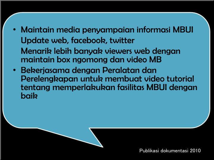 Maintain media