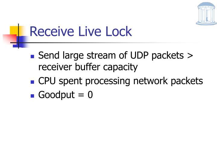Receive Live Lock