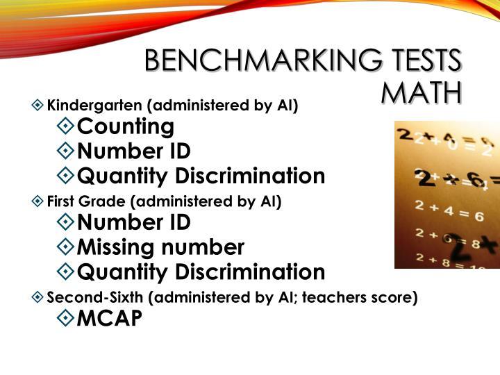 BENCHMARKING TESTS MATH