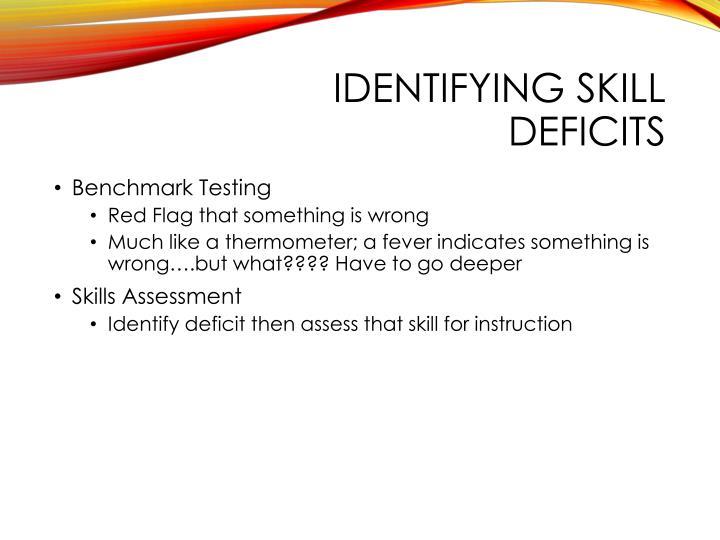 Identifying Skill Deficits