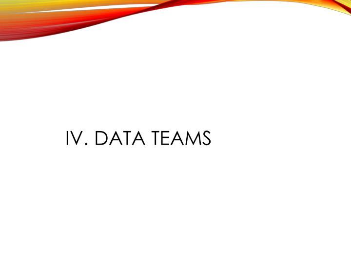 IV. Data teams