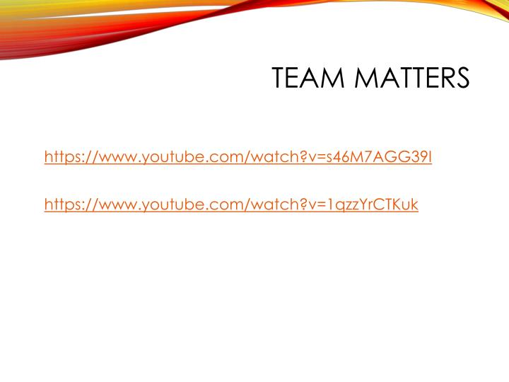 Team Matters
