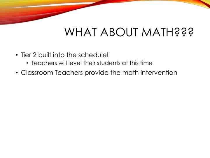 What about MATH???