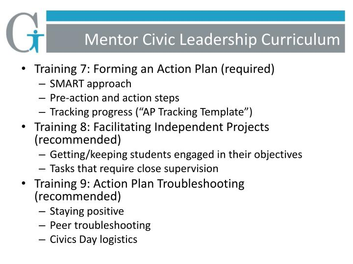 Mentor Civic Leadership Curriculum