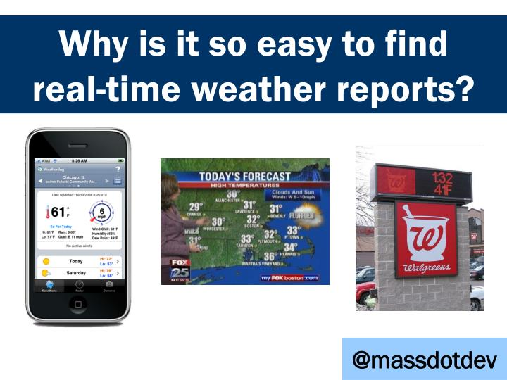 Why is it so easy to find real time weather reports