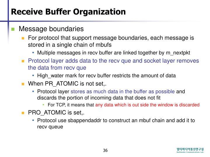 Receive Buffer Organization