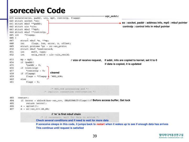soreceive Code