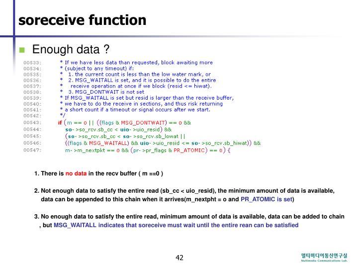 soreceive function