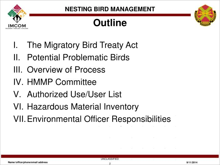 NESTING BIRD MANAGEMENT