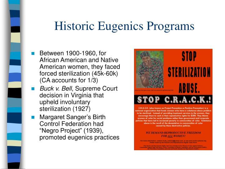 Historic Eugenics Programs