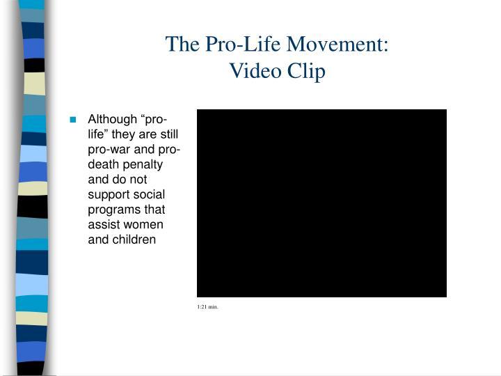 The Pro-Life Movement: