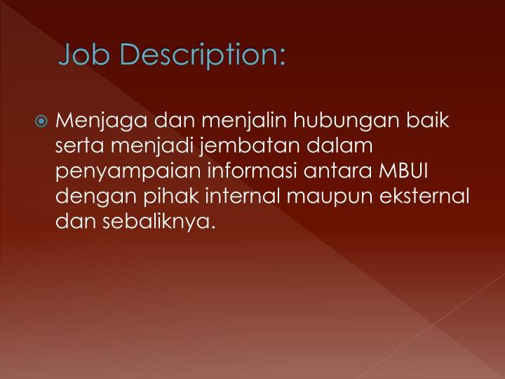 Job Description:
