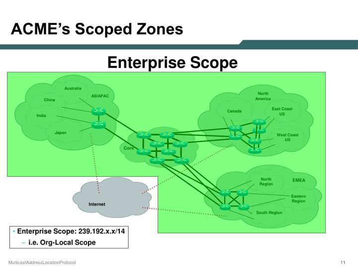 ACME's Scoped Zones