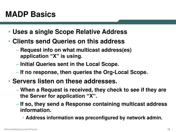 MADP Basics