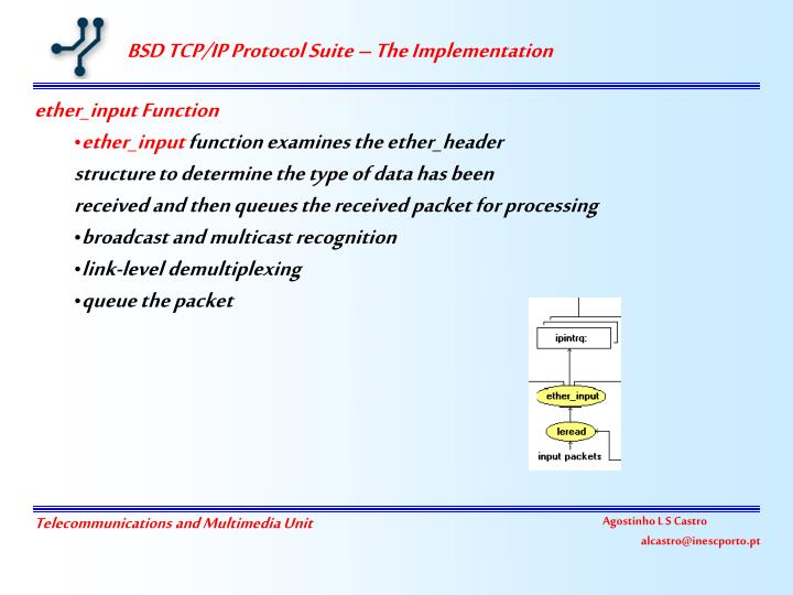 BSD TCP/IP Protocol Suite – The Implementation