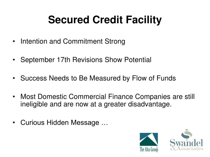 Secured Credit Facility