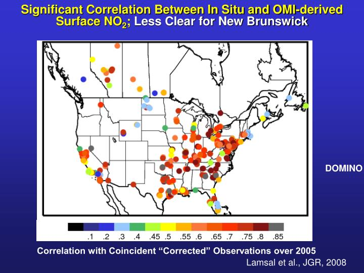 Significant Correlation Between In Situ and OMI-derived Surface NO