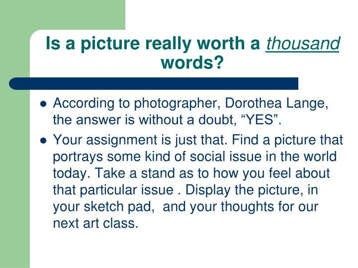 Is a picture really worth a