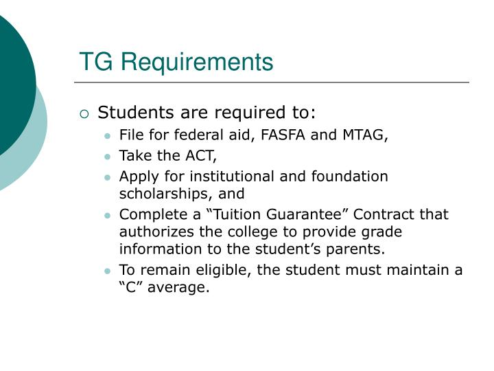 TG Requirements