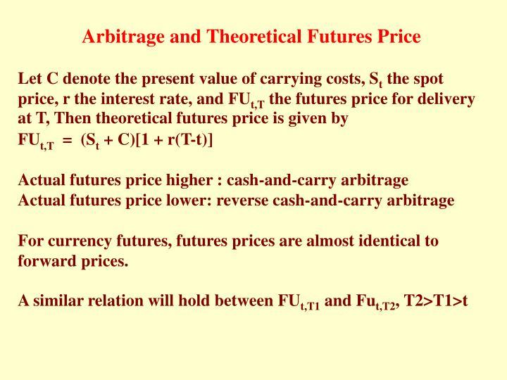 Arbitrage and Theoretical Futures Price