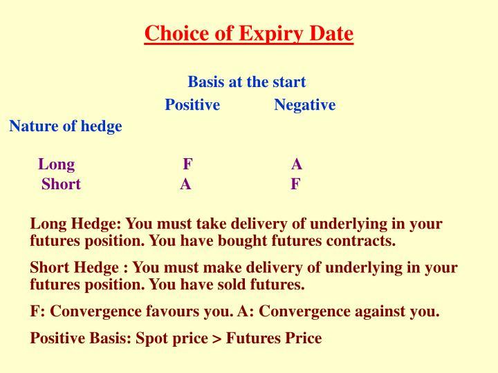 Choice of Expiry Date