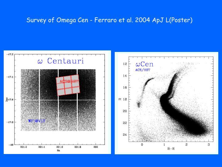 Survey of Omega Cen - Ferraro et al. 2004 ApJ L(Poster)