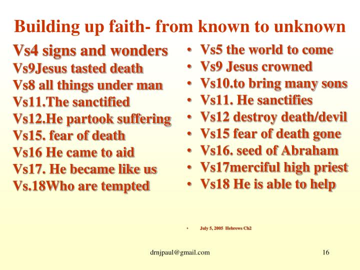 Vs4 signs and wonders