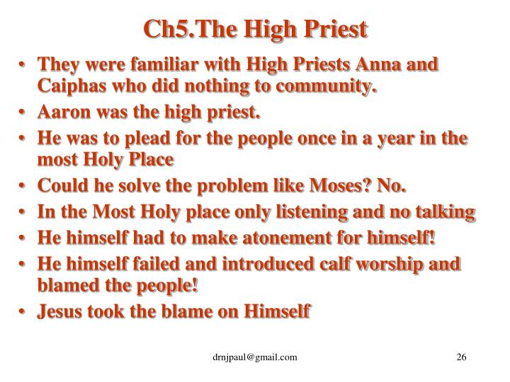Ch5.The High Priest