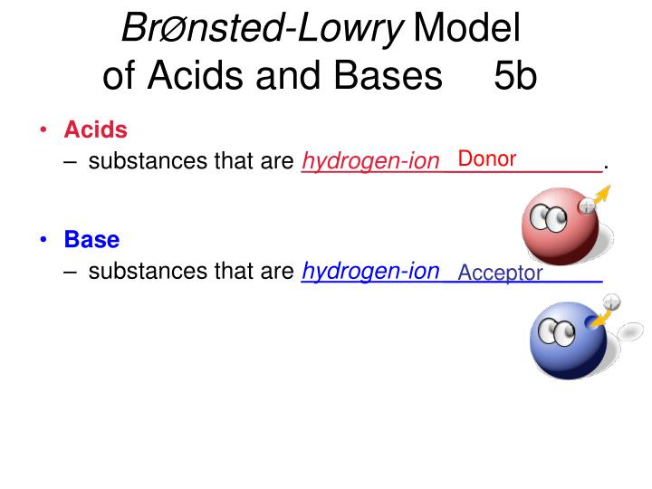 Br nsted lowry model of acids and bases 5b