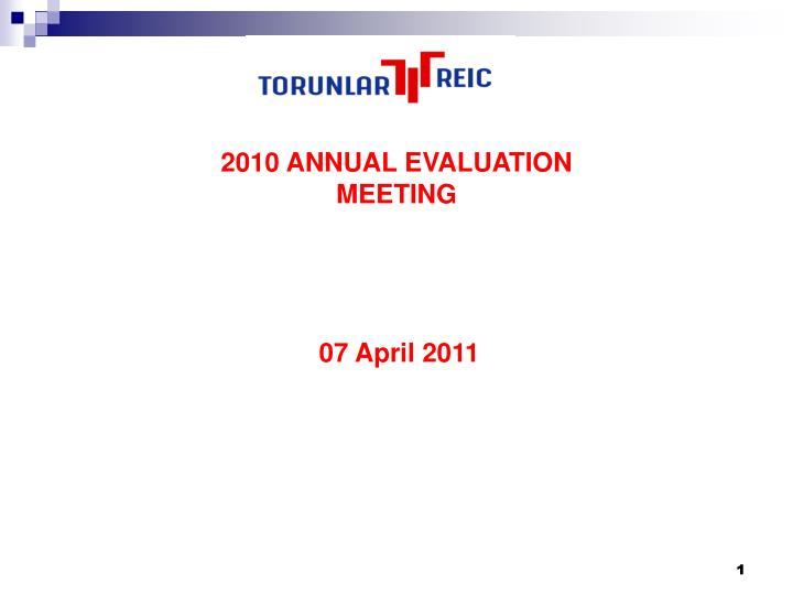 2010 ANNUAL EVALUATION MEETING