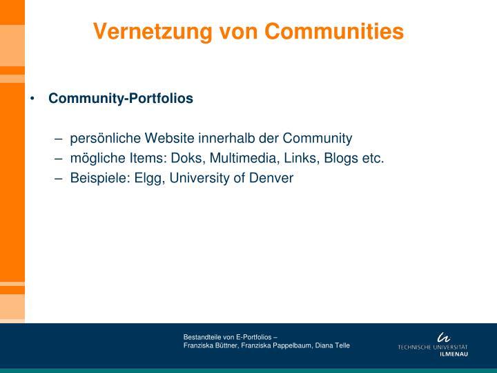 Vernetzung von Communities