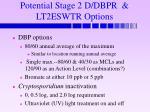 potential stage 2 d dbpr lt2eswtr options