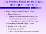 the possible future for the stage 2 d dbpr lt2eswtr