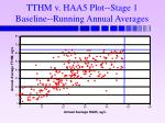 tthm v haa5 plot stage 1 baseline running annual averages