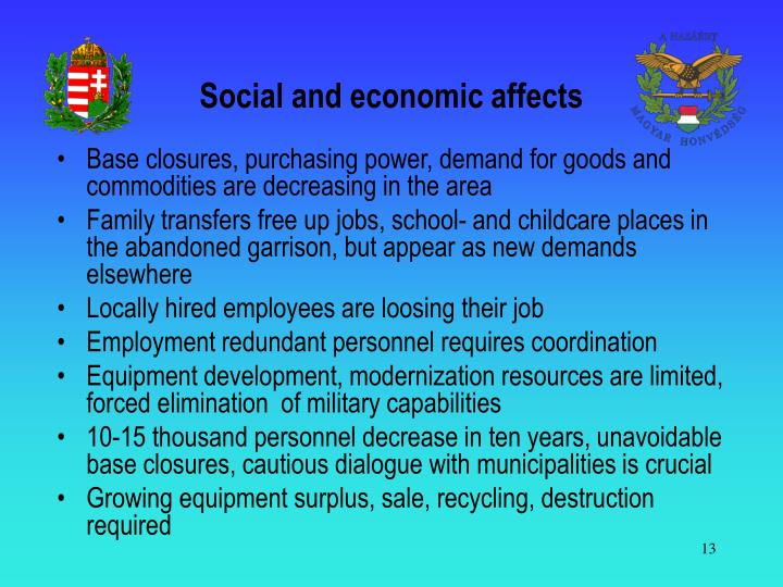 Social and economic affects