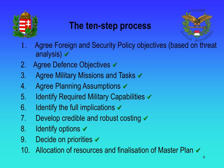 The ten-step process