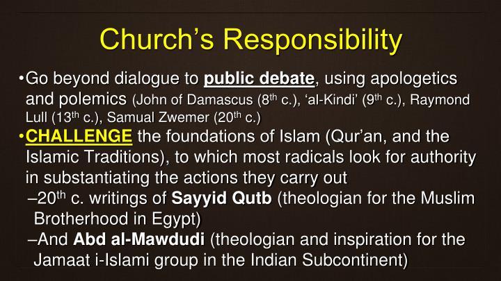 Church's Responsibility