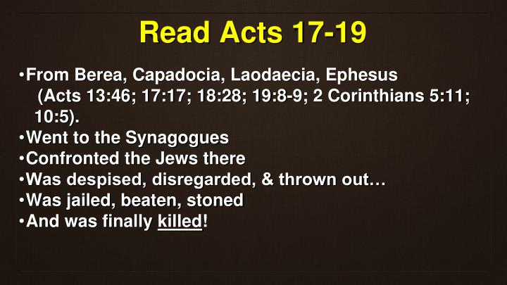 Read Acts 17-19