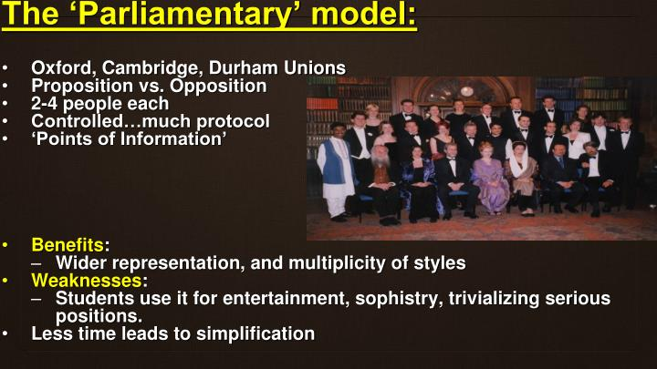 The 'Parliamentary' model: