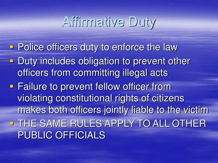 Affirmative Duty