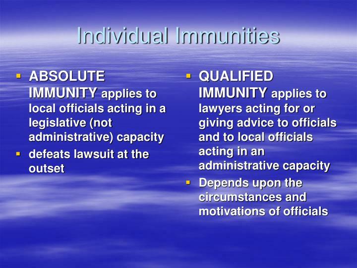 ABSOLUTE IMMUNITY