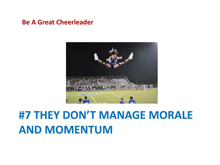 Be A Great Cheerleader