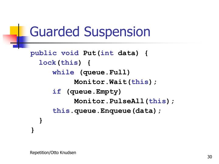 Guarded Suspension