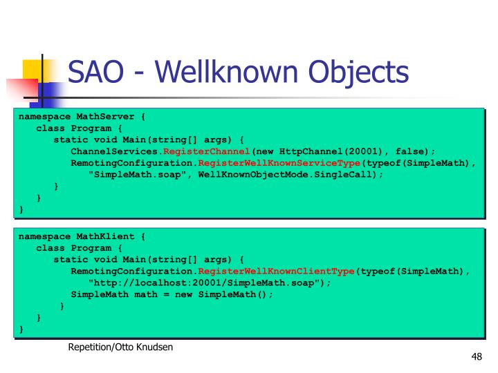 SAO - Wellknown Objects
