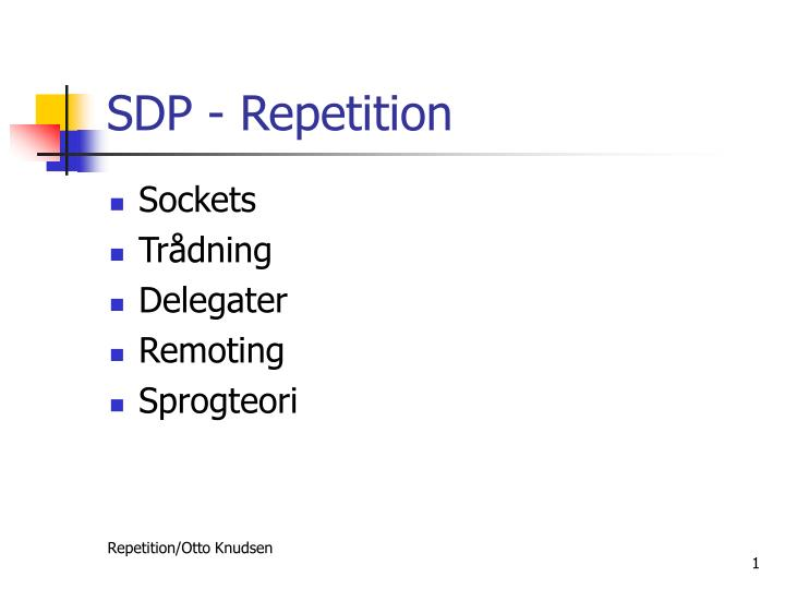 Sdp repetition
