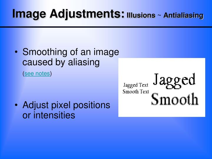 Smoothing of an image