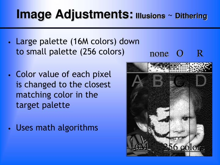Image Adjustments: