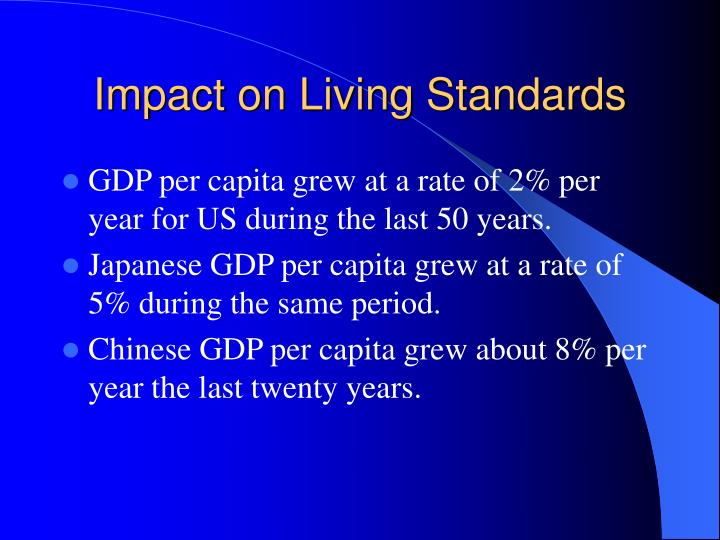 Impact on Living Standards
