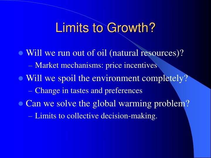 Limits to Growth?