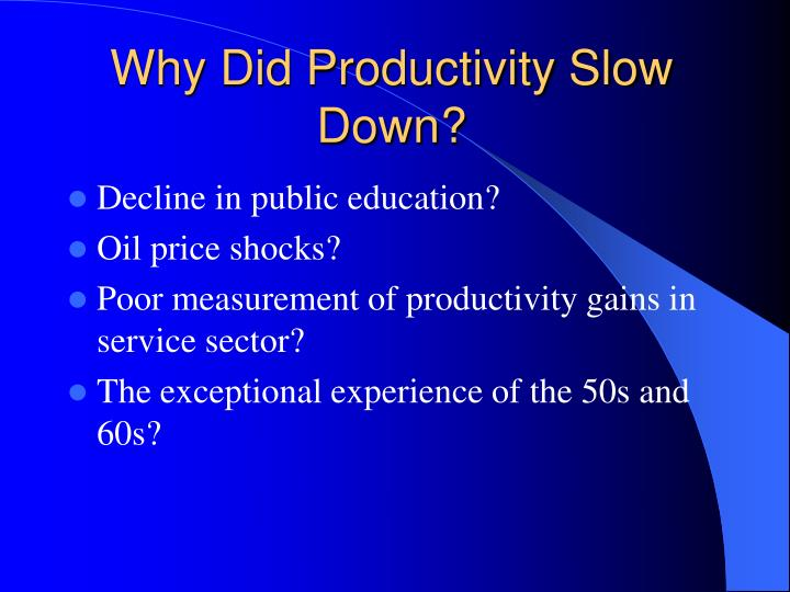 Why Did Productivity Slow Down?